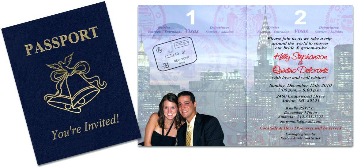 Passport Wedding Invitation Template Uk