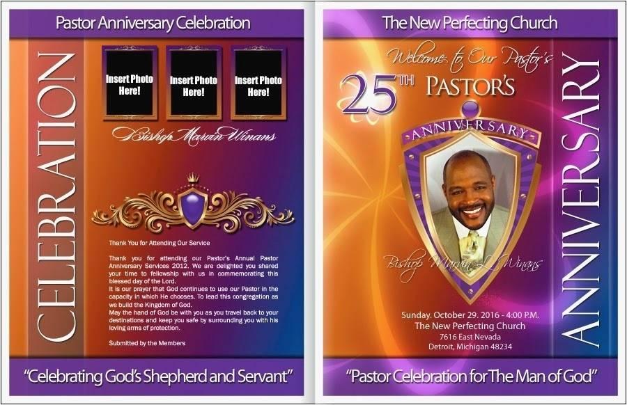 Pastor Anniversary Program Templates Free