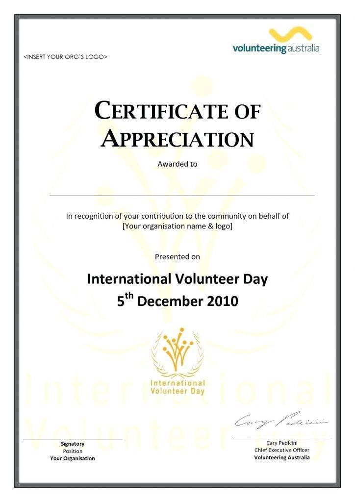 Pastor Appreciation Certificate Template Free