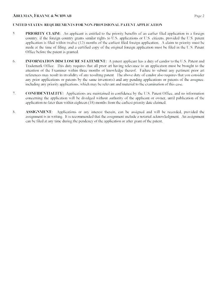 Patent Application Template Word