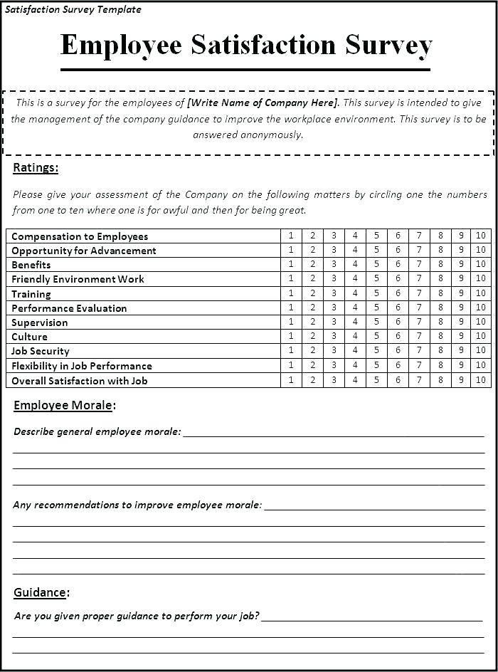 Patient Satisfaction Survey Examples Pdf