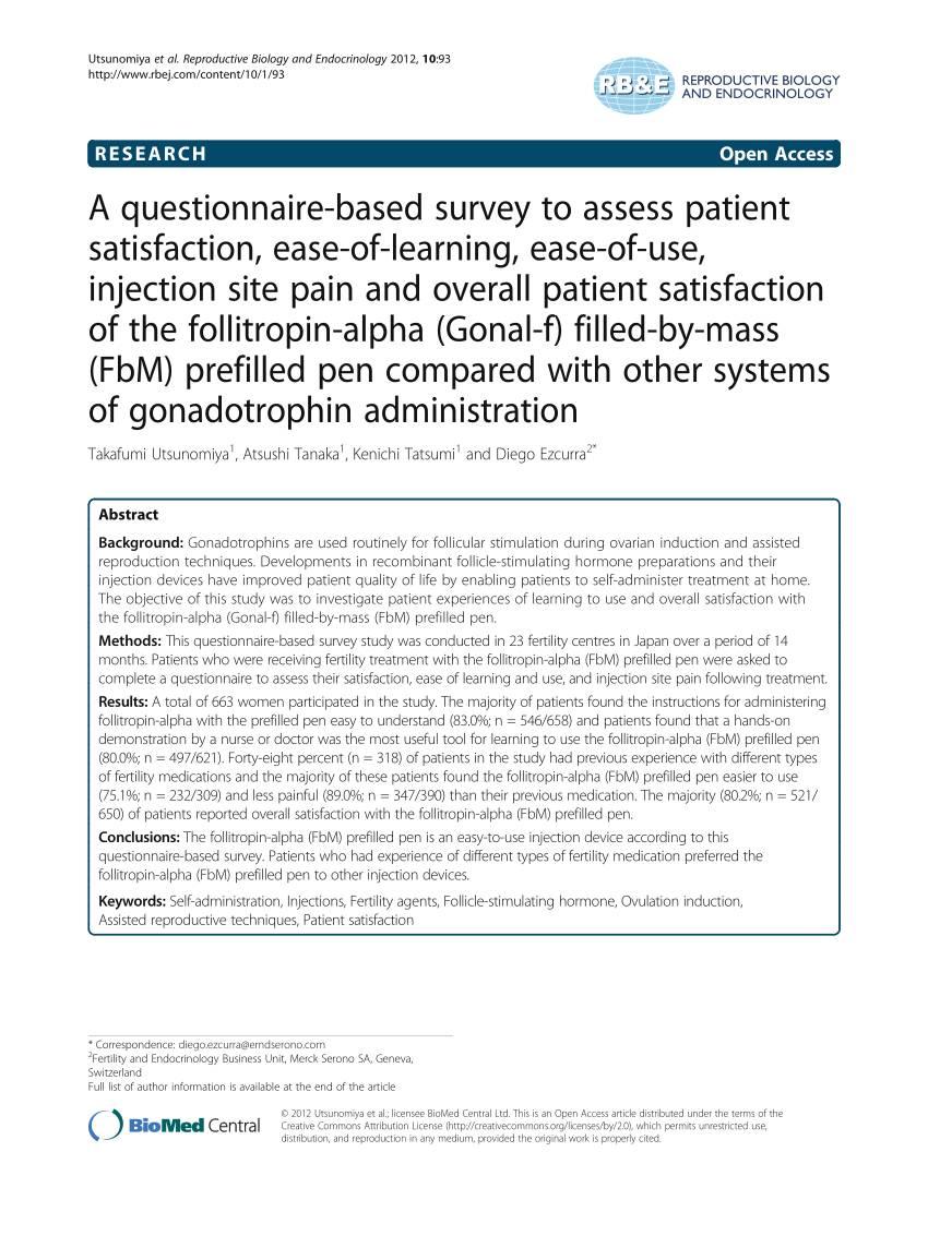 Patient Satisfaction Survey Questionnaire Pdf