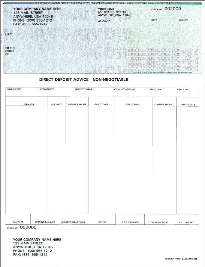 Pay Stubs Templates Free