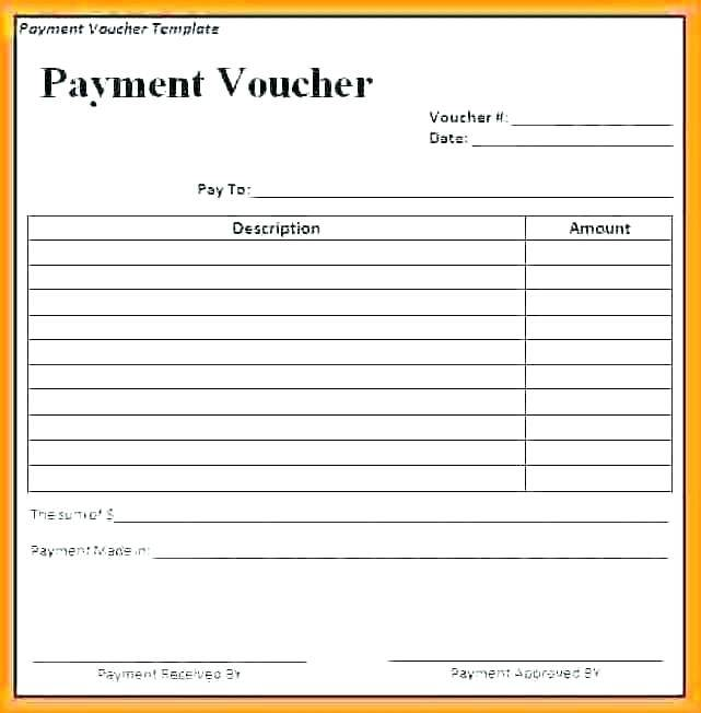 Payment Booklet Template