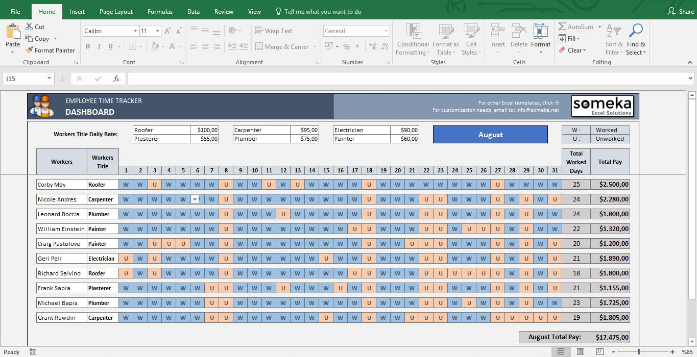 Payroll Excel Templates Free Download