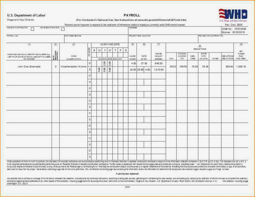 Payroll Information Form Templates
