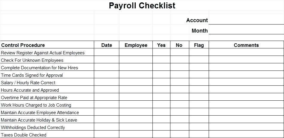 Payroll Procedures Manual Template Uk