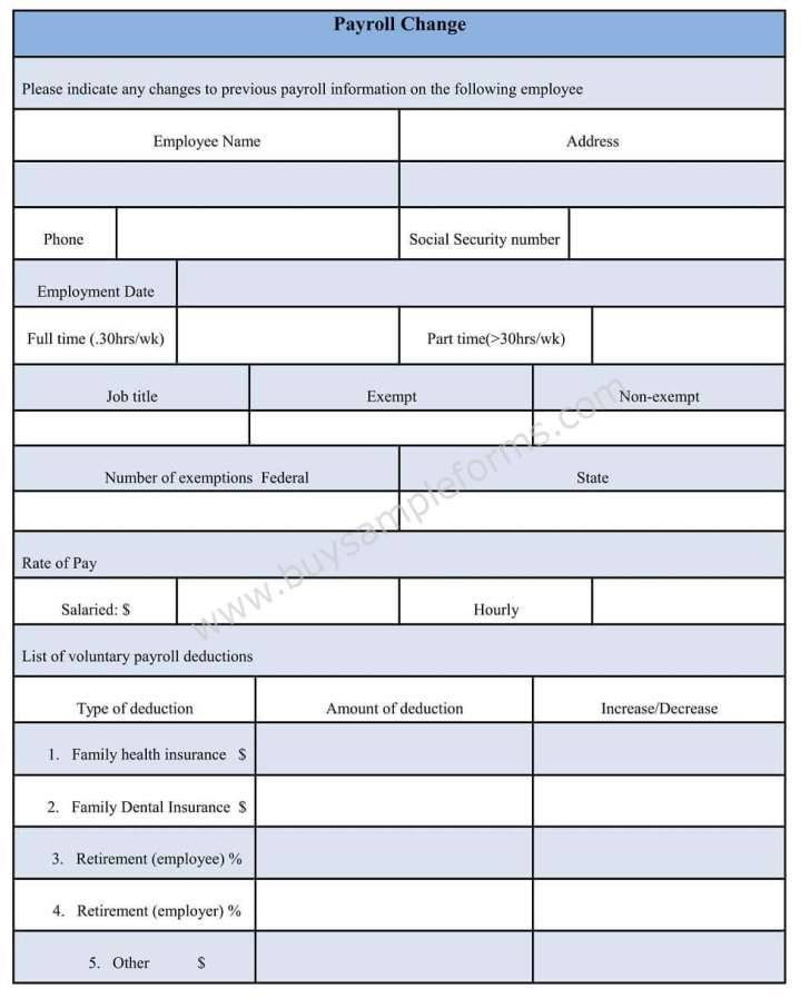 Payroll Record Forms