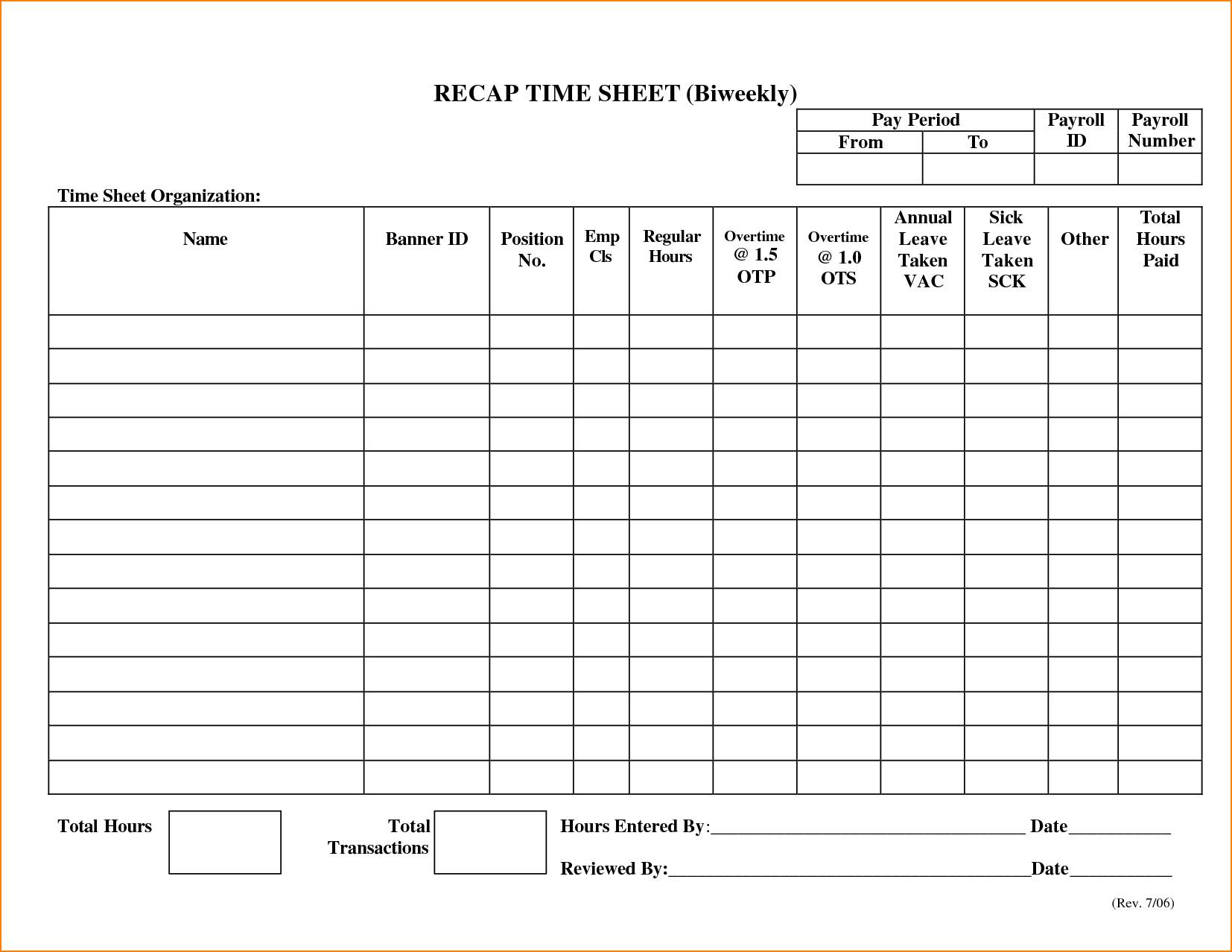 Payroll Sheets Template