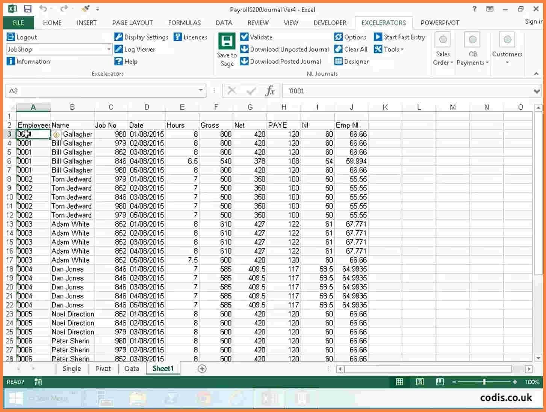 Payroll Spreadsheet Template Canada