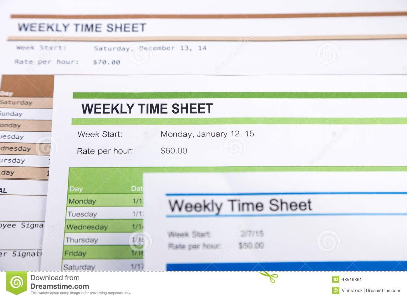 Payroll Time Sheet Form