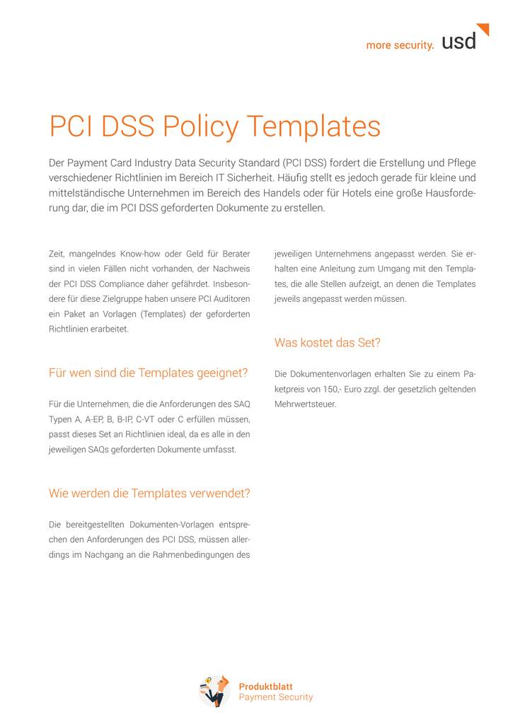 Pci Dss Policy Templates