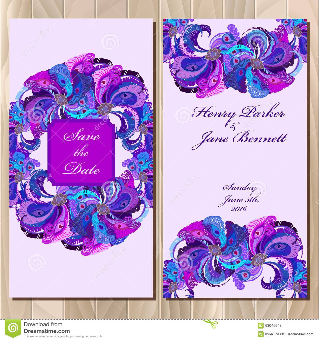 Peacock Birthday Invitation Template