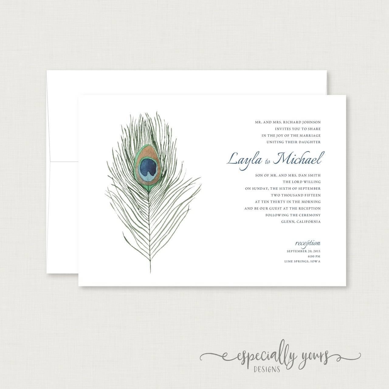 Peacock Invitation Designs