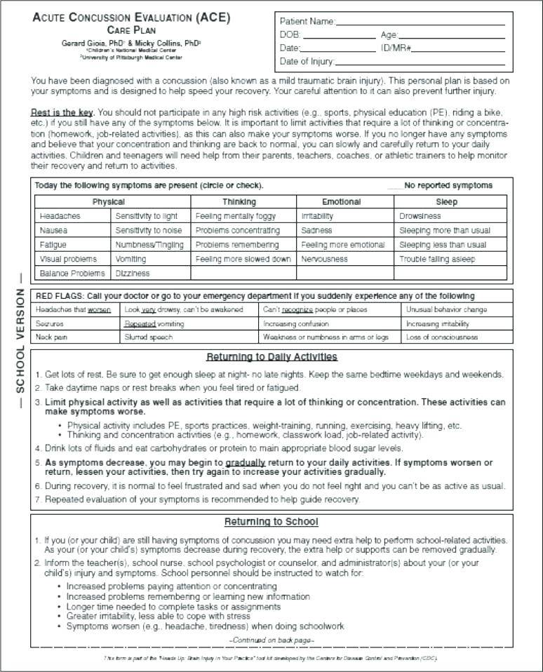 Pediatric Physical Therapy Evaluation Forms