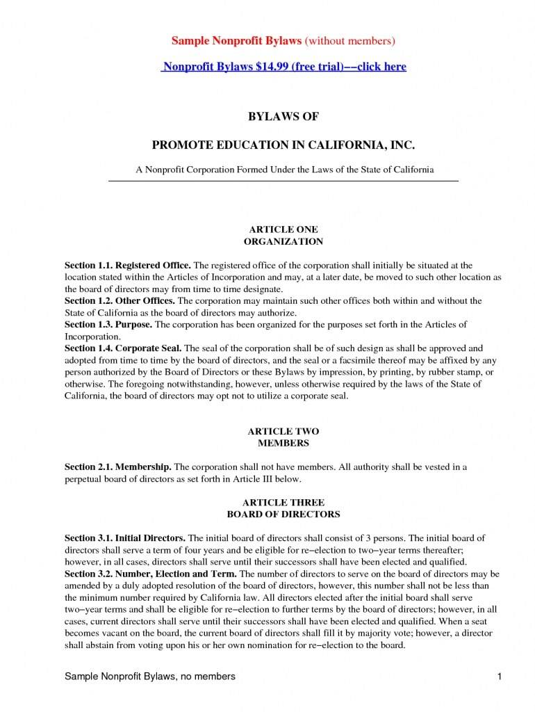 Pennsylvania Corporation Bylaws Template
