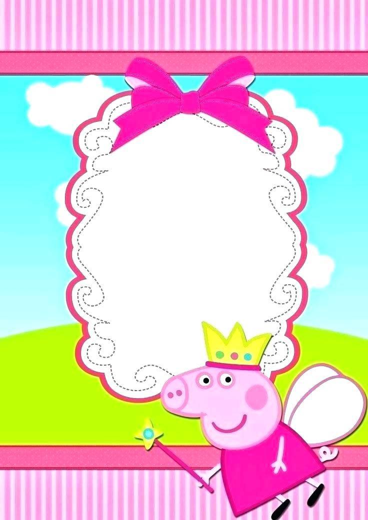Peppa Pig Invitations Template Editable