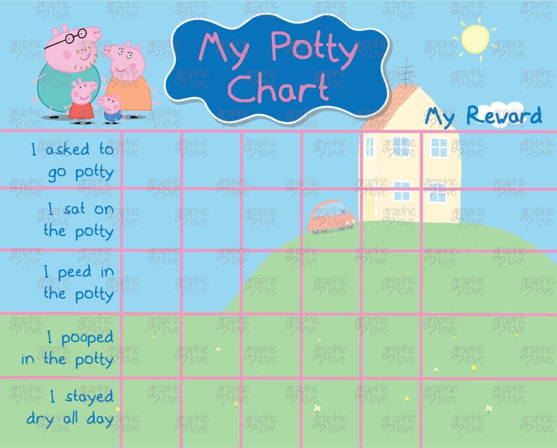 Peppa Pig Potty Training Reward Chart Printable