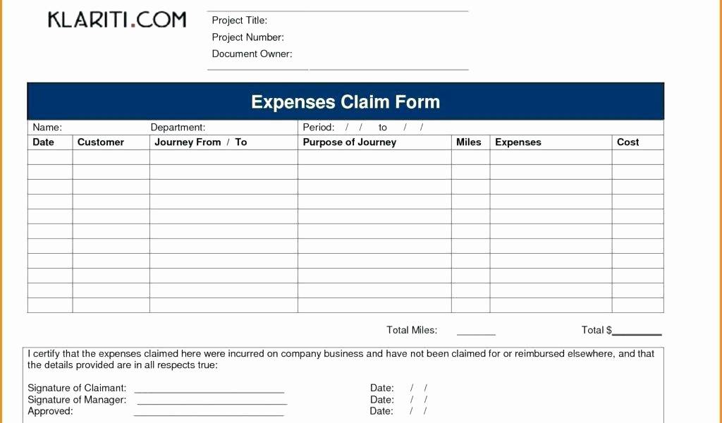 Per Diem Expense Report Template