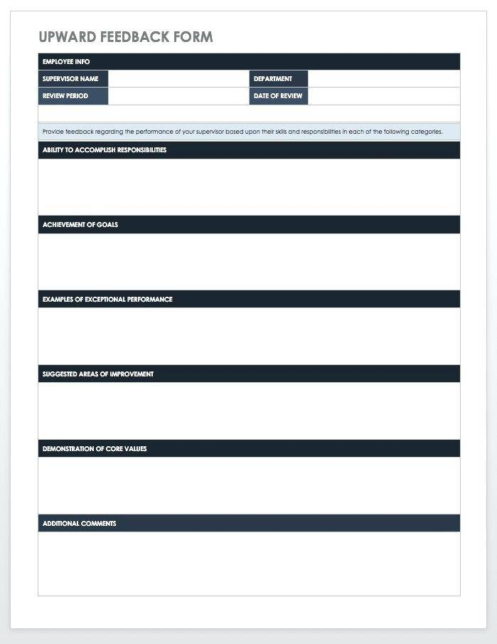 Performance Appraisal Templates Pdf