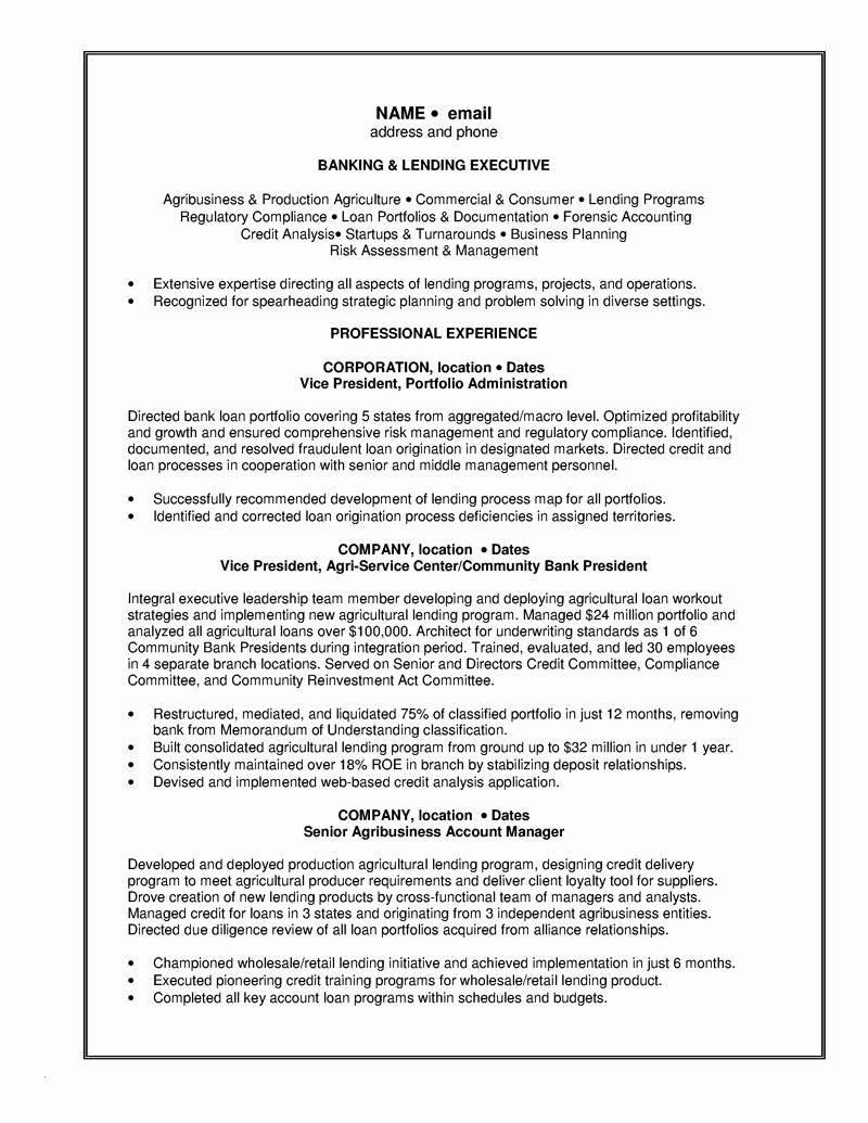 Personal Banker Sample Resume Templates
