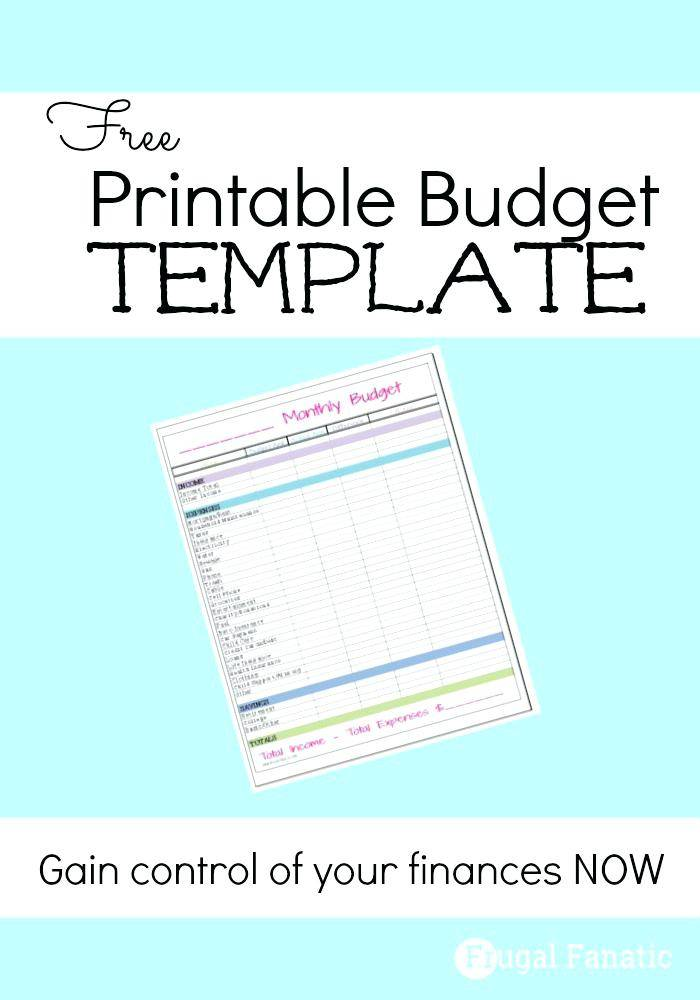Personal Budget Forms Templates
