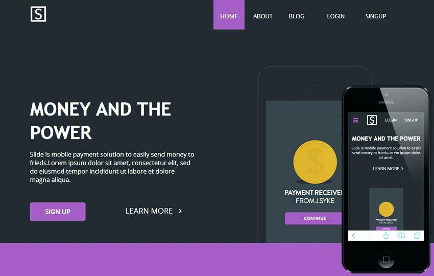 Personal Landing Page Template Bootstrap