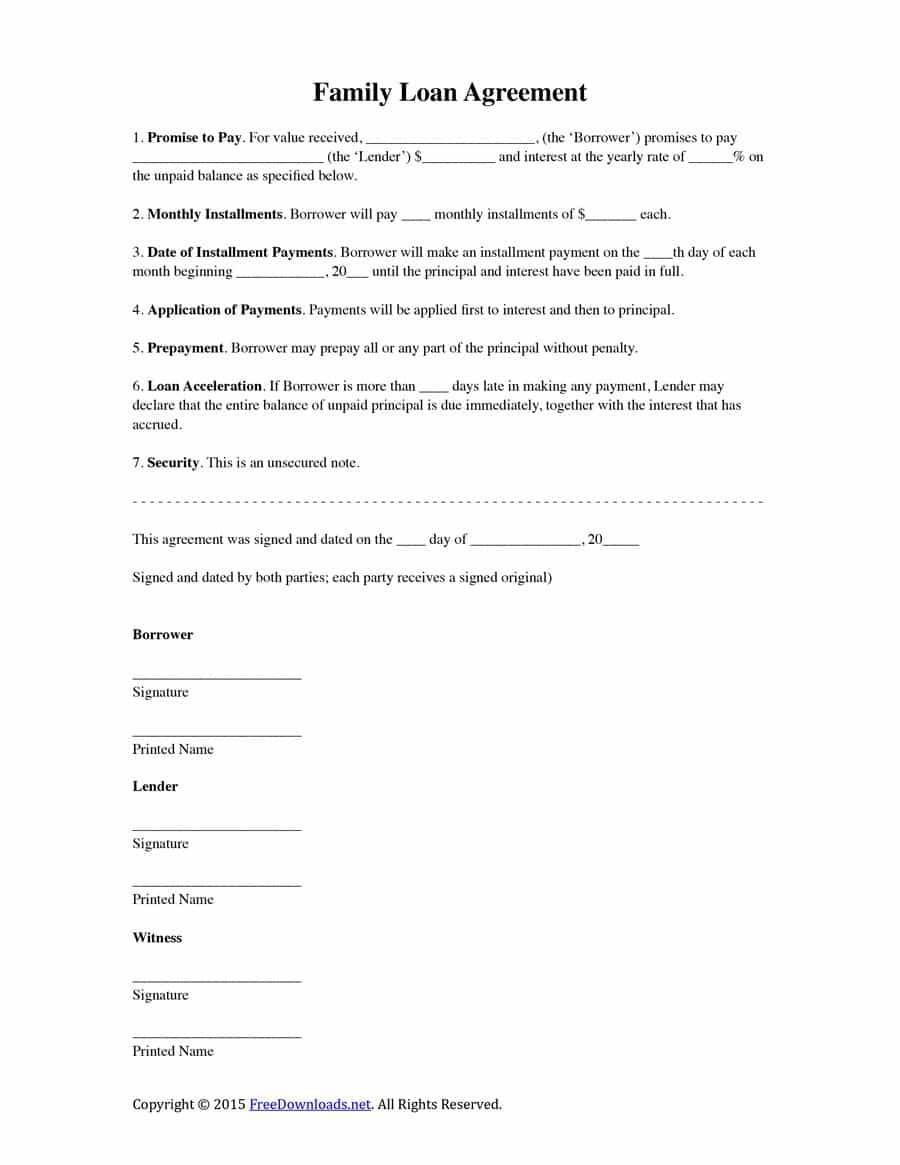 Personal Loan Agreement Template India