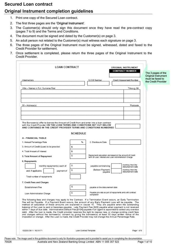 Personal Loan Agreement Template Uk Free