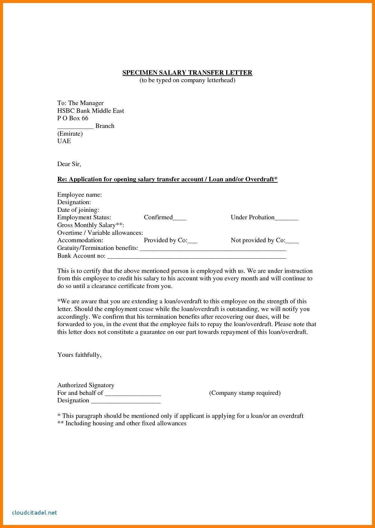 Personal Loan Application Letter Sample To Bank