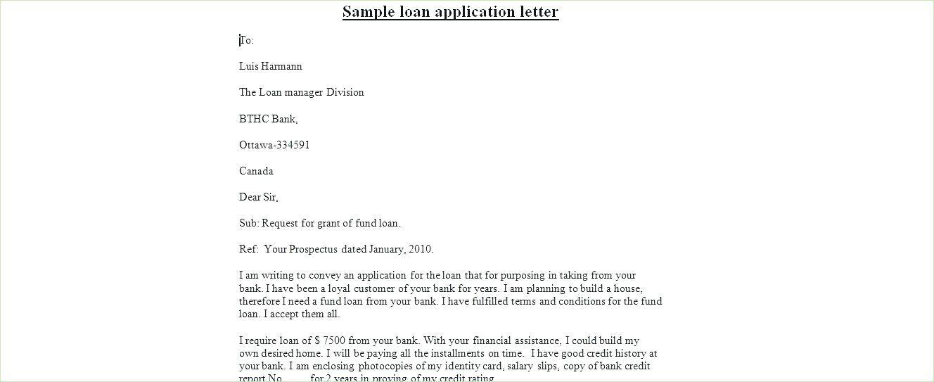 Personal Loan Application Letter Sample To Boss