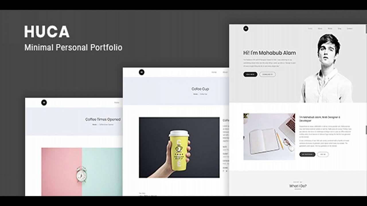Personal Portfolio WordPress Templates