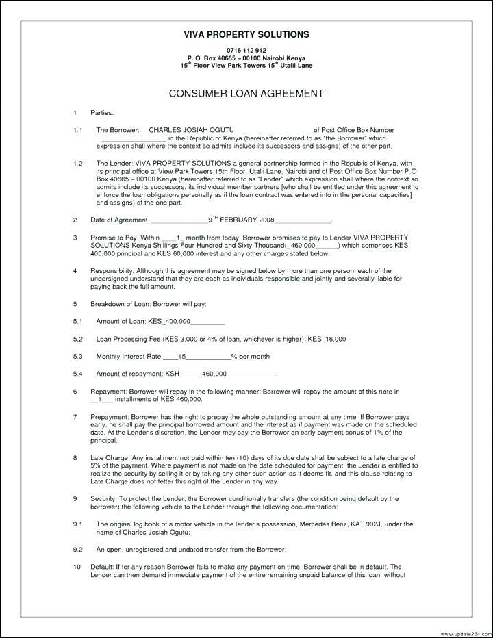 Personal Promissory Note Template
