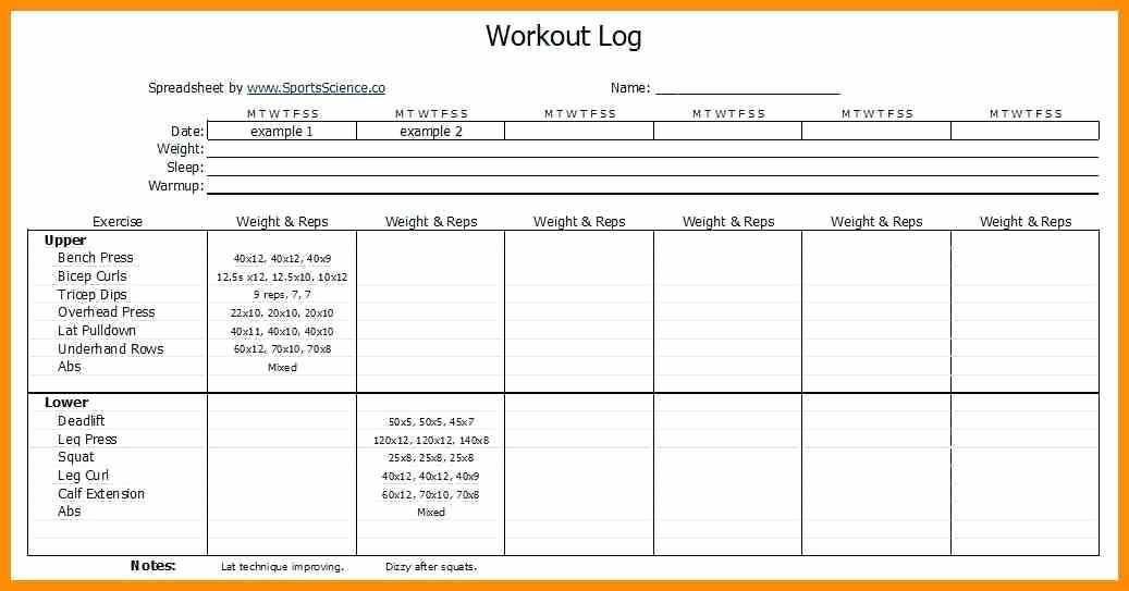Personal Trainer Fitness Test Template