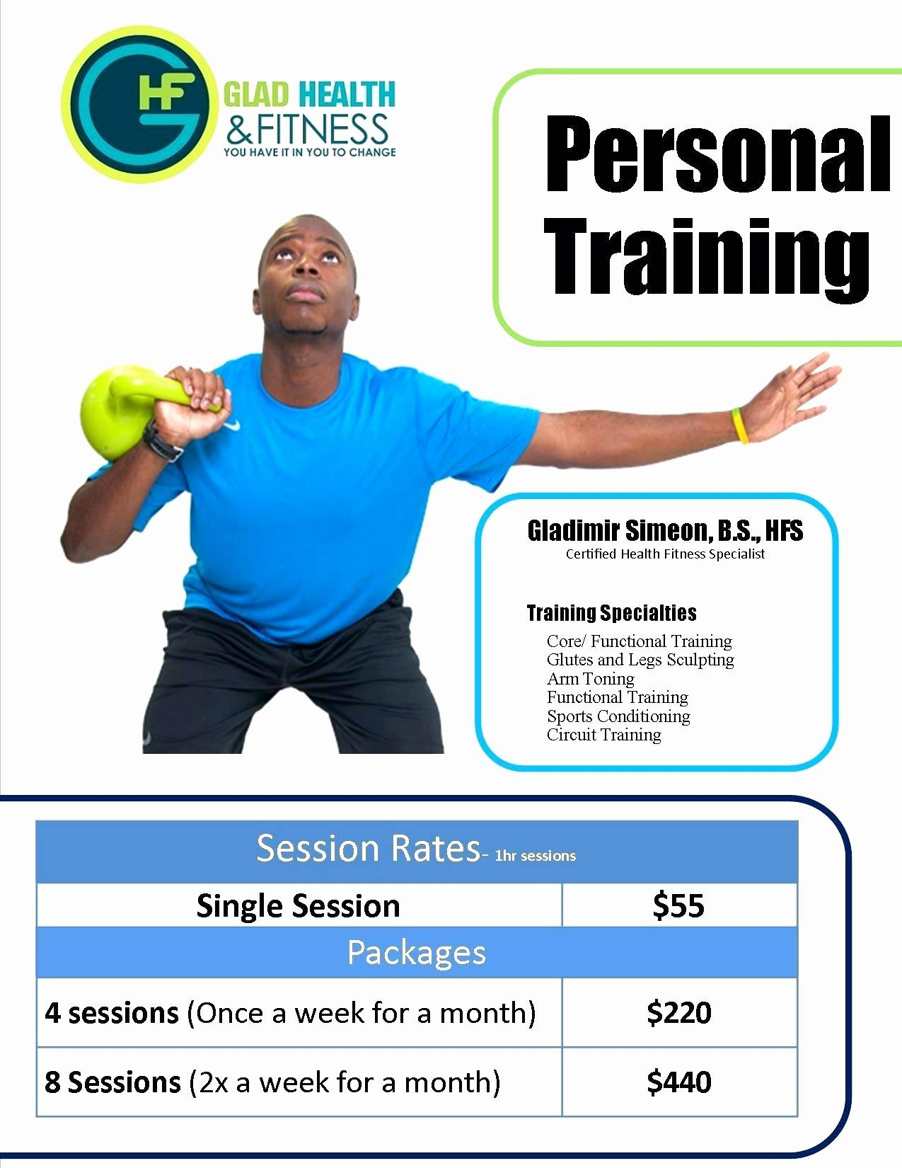 Personal Trainer Flyer Psd Template