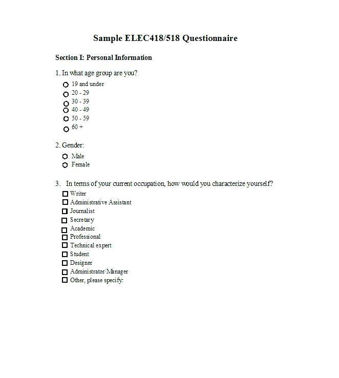 Personal Trainer Medical Questionnaire Template