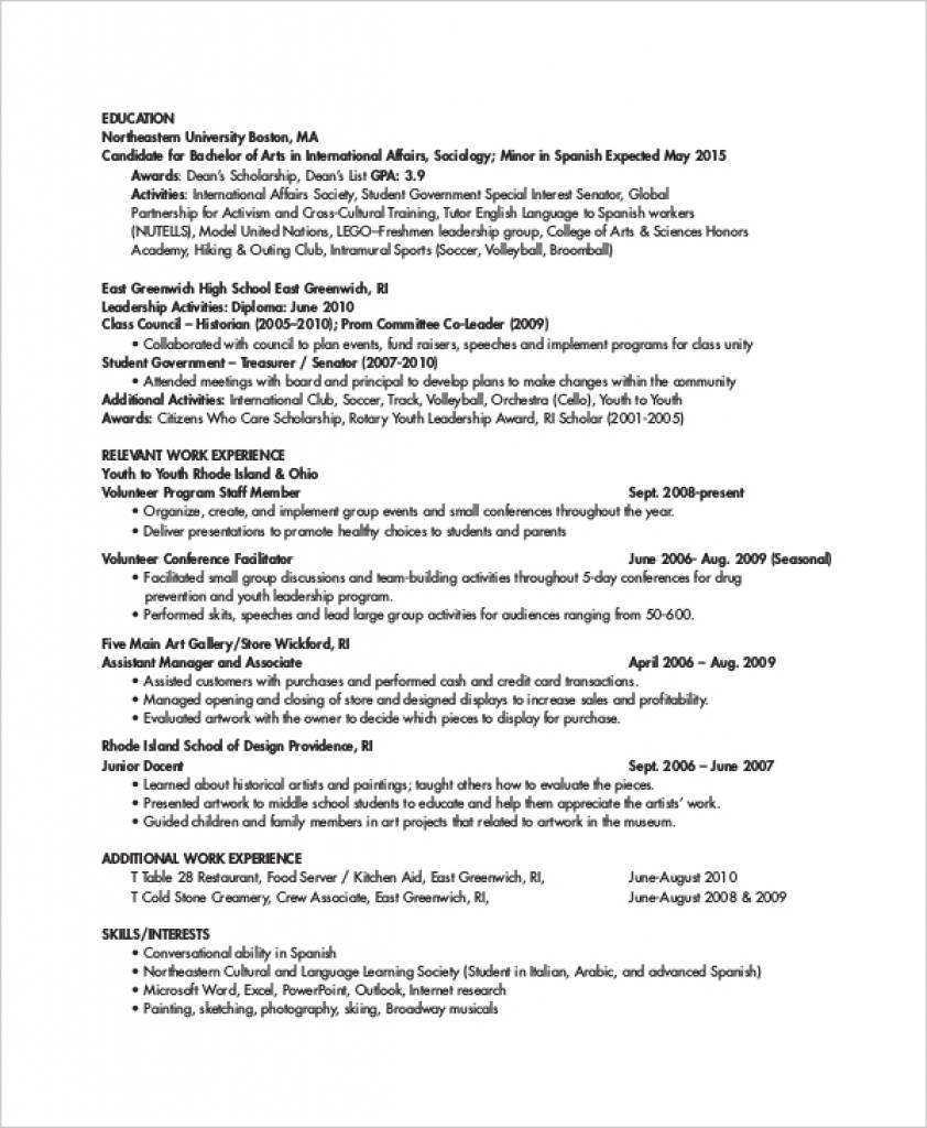 Personal Trainer Resume Templates Free