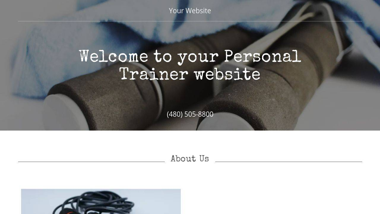 Personal Trainer Website Templates