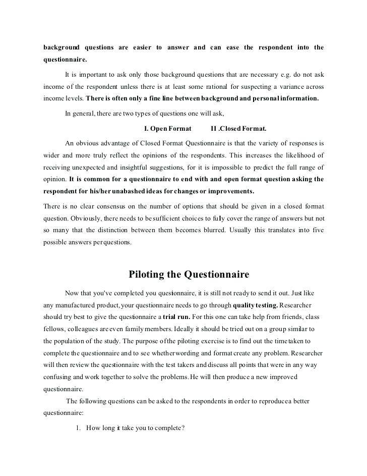 Personal Training Questionnaire Template