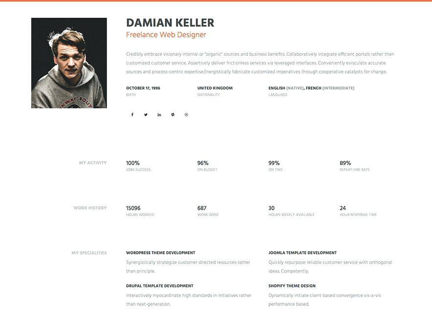 Personal Web Page Templates Free Download