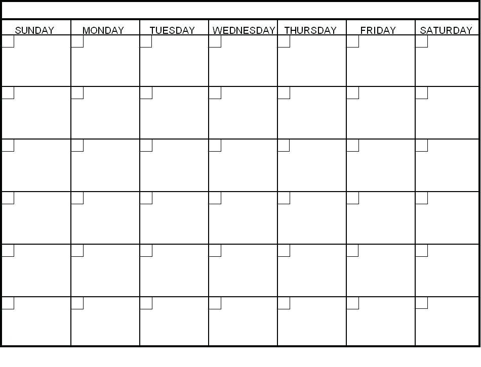 Personalized Calendar Template 2018
