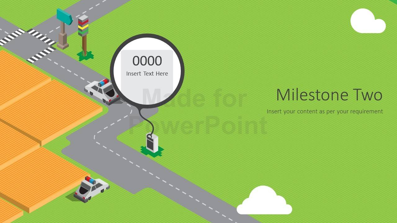 Perspective Animated Roadmap Powerpoint Presentation Template