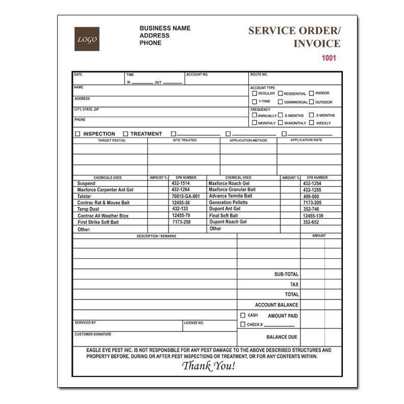 Pest Control Invoice Templates