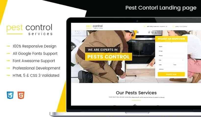 Pest Control Website Templates Free