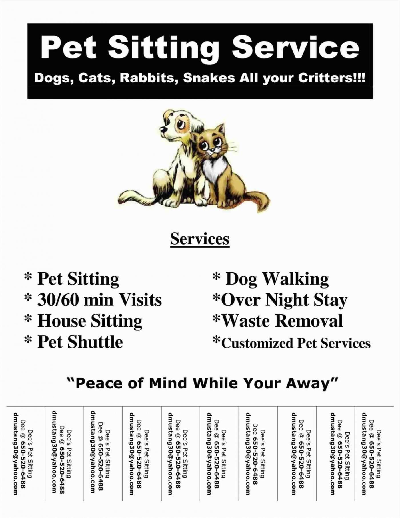 Pet Sitter Flyer Template