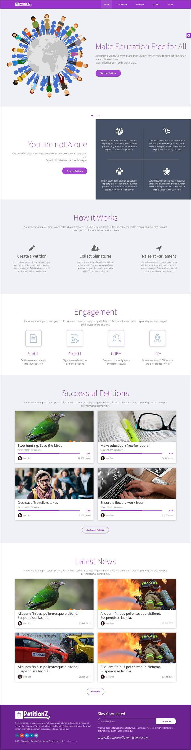 Petition Website Template