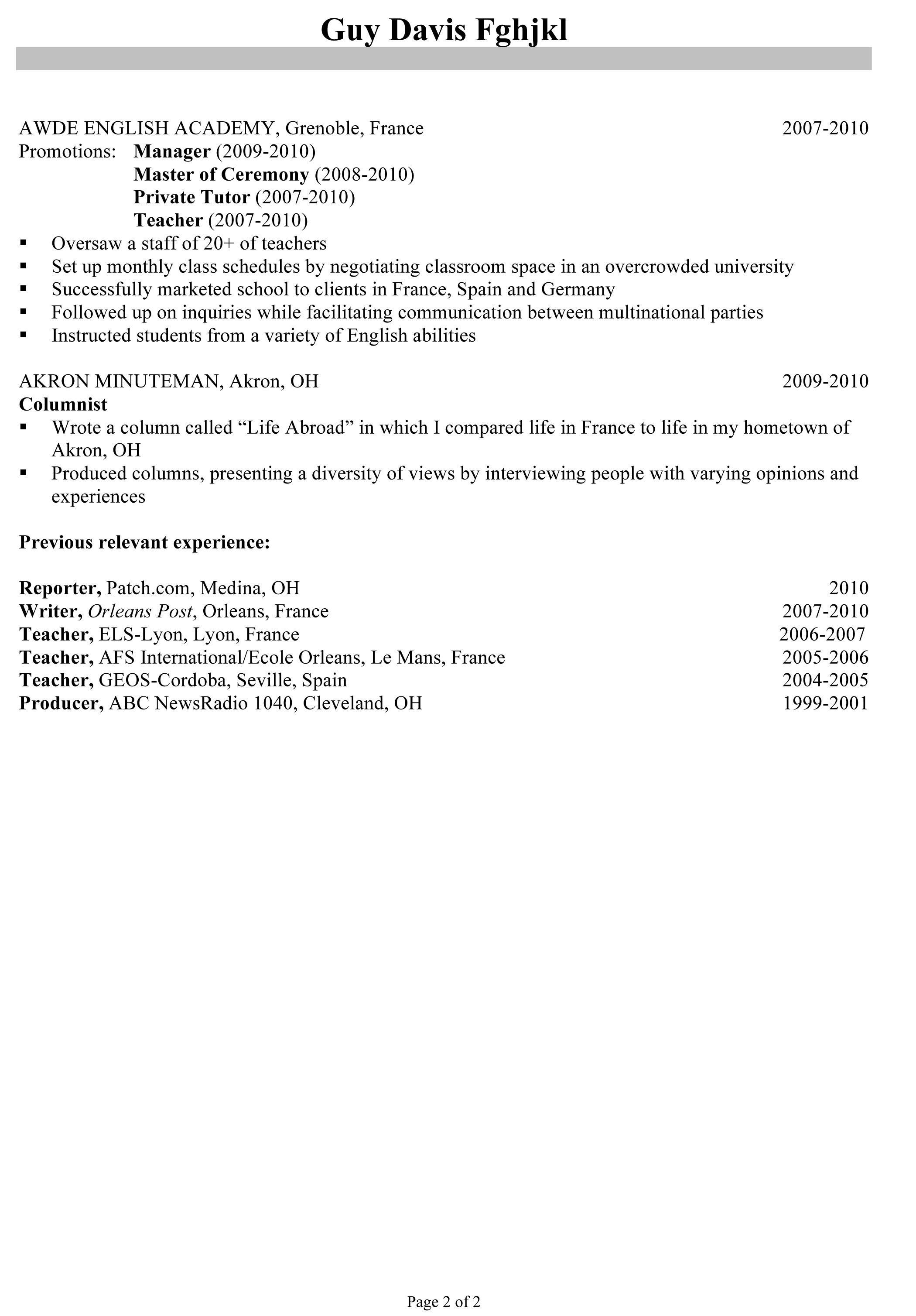 Pharmacy Manager Resume Template