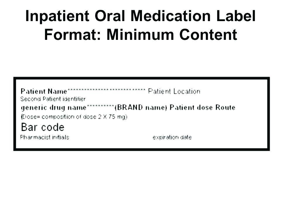 Pharmacy Prescription Label Template