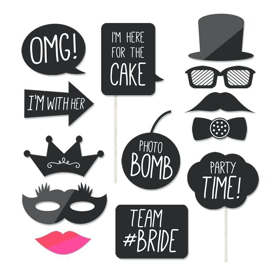 Photo Booth Prop Templates Free