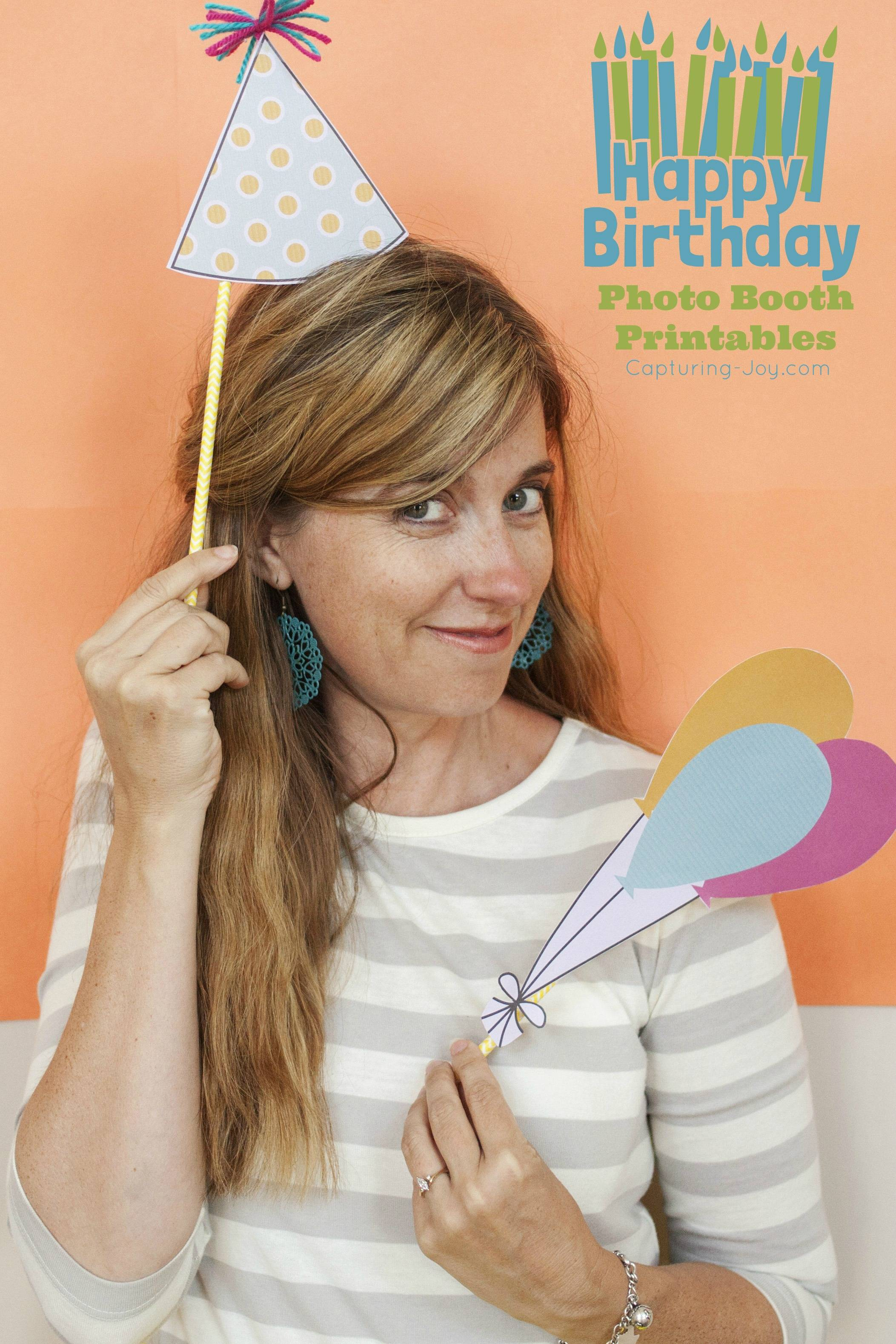 Photo Booth Props Printables Birthday